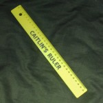 Six of Caitlin's ruler